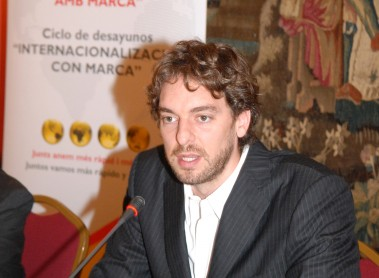 Business breakfast with Pau Gasol